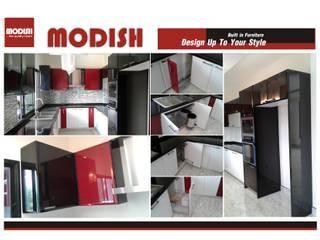 ชุดครัวสีไฮกร็ิอส สีขาว ดำ แดง โดย บริษัท โมดิช เดคคอ จำกัด