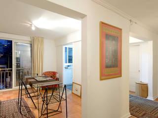 Remodelación Departamento Los Estanques: Livings de estilo  por Grupo E Arquitectura y construcción