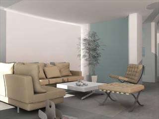 Small seaside home project Soggiorno minimalista di ibedi laboratorio di architettura Minimalista