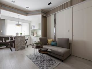 Skandynawski salon od 思為設計 SW Design Skandynawski