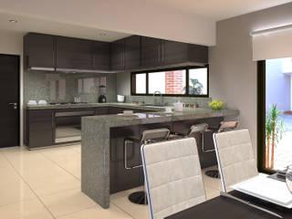 Ampliación remodelación Casa RV Cocinas modernas de Estudio Colectivo de Arquietctura Moderno