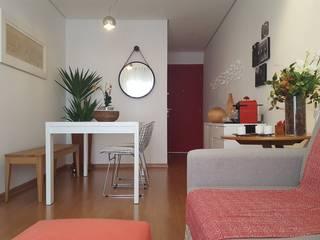 Apartamento TBO: Salas de jantar  por Arkete Arquitetura e Sustentabilidade