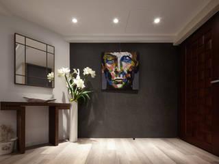 Couloir, entrée, escaliers scandinaves par 耀昀創意設計有限公司/Alfonso Ideas Scandinave