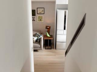 耀昀創意設計有限公司/Alfonso Ideas Pasillos, vestíbulos y escaleras de estilo escandinavo