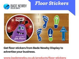 Custom Print Floor Stickers Modern walls & floors by Bade Newby Display Modern
