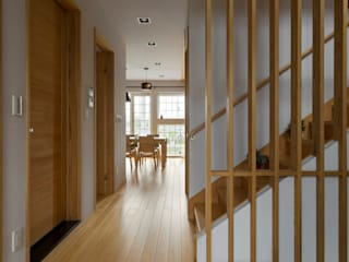 Asian style corridor, hallway & stairs by 耀昀創意設計有限公司/Alfonso Ideas Asian