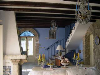 Abitazione privata a Licata Soggiorno in stile mediterraneo di Studio di Architettura Parodo Mediterraneo