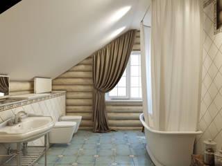 Wiejska łazienka od Студия дизайна интерьера ART-Labs Wiejski