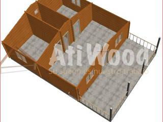 Asi construimos Casas de estilo moderno de Atiwood S.L. Moderno