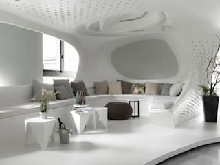 Modern living room by Luova 創研俬.集 Modern Concrete