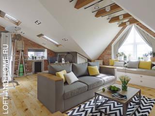 КЕМБРИДЖ, УЮТНЫЙ ЛОФТ: Гостиная в . Автор – Loft&Home