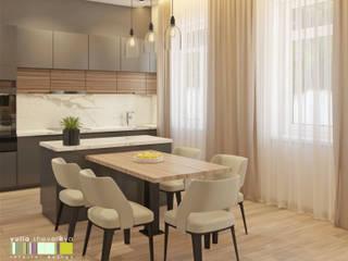 ミニマルデザインの キッチン の Мастерская интерьера Юлии Шевелевой ミニマル