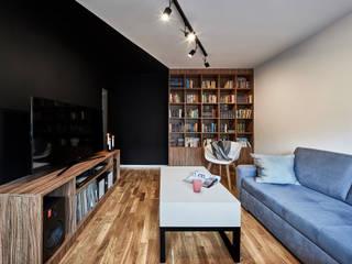 TRIANGLE FLAT: styl , w kategorii Salon zaprojektowany przez 3XEL Biuro projektowe