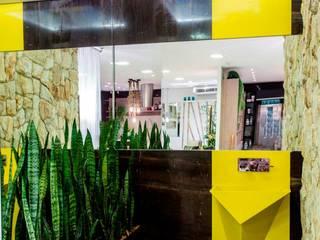 Yellow Diamond - Cuba esculpida em quartzo amarelo por RK Arquitetura & Design Moderno