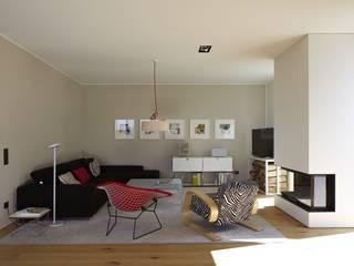 Falke Architekten Ruang Keluarga Modern