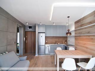 Mieszkanie Twardowskiego: styl , w kategorii Kuchnia zaprojektowany przez PRACOWNIA PROJEKTOWA JAGANNA
