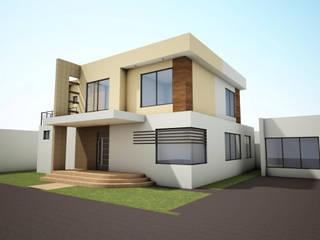 Casa Axtotlán: Casas de estilo  por URBVEL Constructora e Inmobiliaria