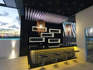 Saln de eventos ERSO: Terrazas de estilo  por URBVEL Constructora e Inmobiliaria