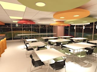 Comedor Cafeteria corporativo Polanco: Comedores de estilo  por URBVEL Constructora e Inmobiliaria