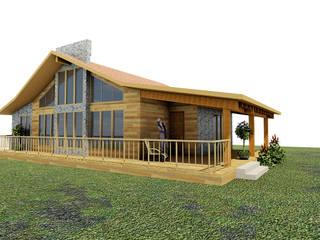 Casa de campo Tepotzotlan: Casas de estilo  por URBVEL Constructora e Inmobiliaria