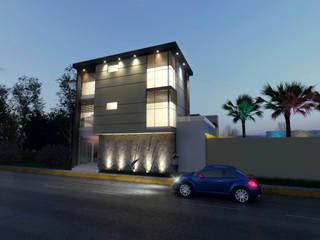 Salon de eventos y oficinas: Estudios y oficinas de estilo moderno por URBVEL Constructora e Inmobiliaria