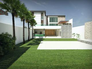 Salon de eventos y oficinas: Casas de estilo moderno por URBVEL Constructora e Inmobiliaria