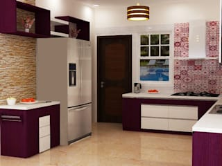 Omexe city:  Kitchen by Anushri Interiors