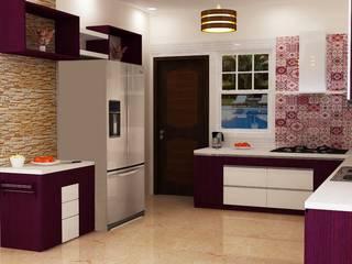 Cozinhas modernas por Anushri Interiors Moderno