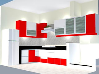 KITCHEN INTERIORS, Pune SILVERFERNS DESIGN INNOVATION KitchenCabinets & shelves Plywood Red