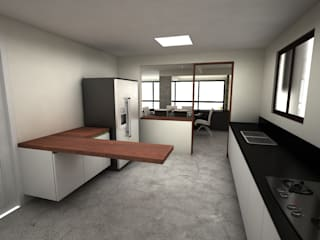 Studio + Arquitetura e Urbanismo บ้านและที่อยู่อาศัย ไม้ผสมพลาสติก White