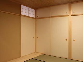 和風(マンションリモデル): 有限会社 起廣プランが手掛けた寝室です。,