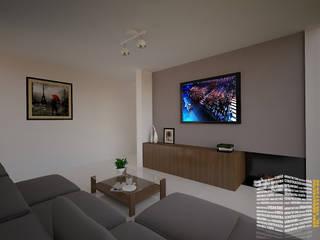 Media room by HHRG ARQUITECTOS, Minimalist