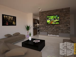 Ruang Keluarga oleh HHRG ARQUITECTOS, Modern