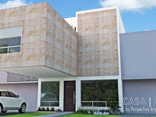 Houses by Perspectiva Arquitectos México, Modern