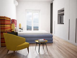 Dormitorios de estilo  por T+T ARCHITETTURA, Moderno