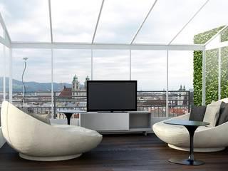 T+T ARCHITETTURA Modern conservatory