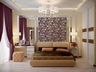 Klassische Schlafzimmer von Студия интерьерного дизайна happy.design Klassisch