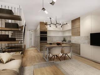 Modern living room by KOKON zespół architektoniczny Modern