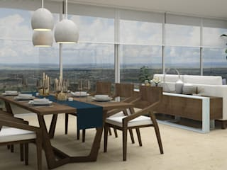 Dining room by CONTRASTE INTERIOR, Mediterranean