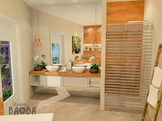 Bathroom in Voorburg Klassieke badkamers van Studio Baoba Klassiek