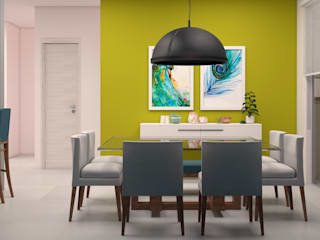 CONTRASTE INTERIOR Eclectic style dining room Yellow