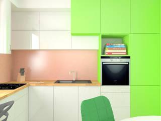 Pokręcona podłoga: styl , w kategorii Kuchnia zaprojektowany przez KPstudio Karolina Pajączkowska