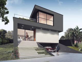 RESIDÊNCIA ALPHAVILLE LAGOA DOS INGLESES: Casas  por PABLO DANTAS | ARQUITETO