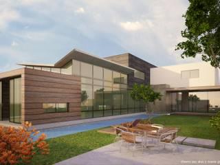 Modern style gardens by Diez y Nueve Grados Arquitectos Modern