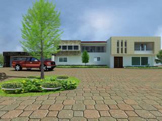 FACHADA PRINCIPAL: Casas de estilo moderno por FORMAS ARQUITECTURA