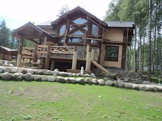 Техно-сруб Country style house Wood