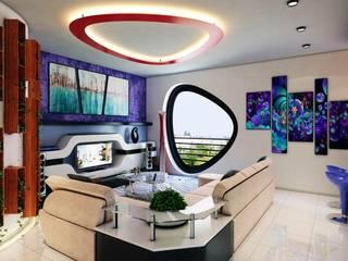 Phell Residence Soggiorno moderno di Denis Confalonieri - Interiors & Architecture Moderno