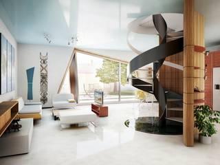 Soft Cube Ingresso, Corridoio & Scale in stile moderno di Denis Confalonieri - Interiors & Architecture Moderno