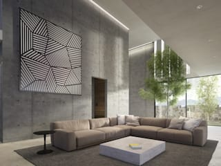 Living room by HAC Arquitectura,