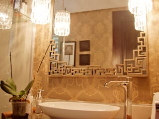 HOUSE J: mediterranean Bathroom by Kirsty Badenhorst Interiors